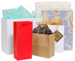 Retail bags, heat stamping, tissue paper, bows and more.