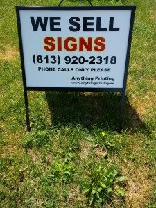 Anything Printing Yard Sign
