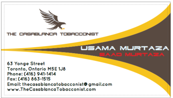 Casablanca Tobacconist - Business Card Tamplate Design