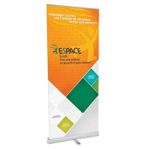 AnythingPrinting - 33.5in w x 82in h Retractable Banner and Stand