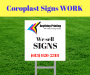 Coroplast Signs WORK